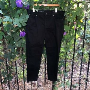 J.Crew black toothpick jeans 32